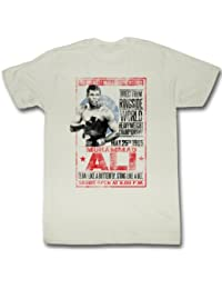 Muhammad Ali - 1965 Poster Mens T-Shirt In Dirty White