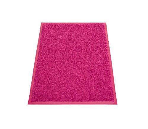 miltex 25023 Eazycare Pro Schmutzfangmatte, Polyamid und Nitril Gummi-Rücken, Pink, 90 x 60 cm
