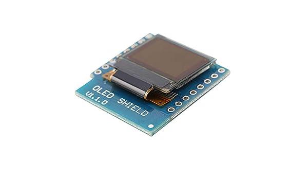 Tree-on-Life Schild f/ür Wemos D1 Mini 0,66 Zoll Zoll 64 x 48 Iic I2c f/ür Arduino kompatibles Mini0.66 OLED-Schild schwarz