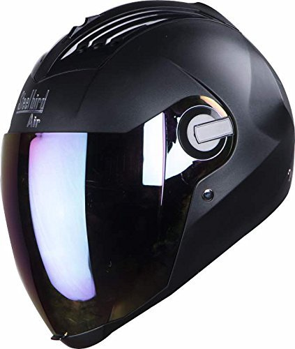 Steelbird SBA-2 Full Face Helmet with AUTOTRUMP Brand Universal lever sleeve (Black)