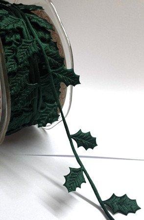 Berties Bögen Neuheit Weihnachten Trim-Green Holly Leaf Trim-30mm-Meterware Holly Trim