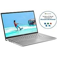 ASUS VivoBook with Microsoft Office 365 Personal - X412DA Full HD 14 Inch Thin Laptop (AMD Ryzen R3 Processor, 4  GB RAM, 128  GB SSD, Windows 10)