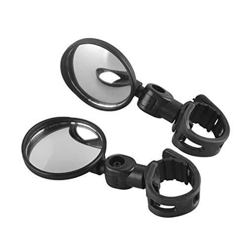 Bici Manubrio Bici Specchietto retrovisore Rotazione a 360 Gradi Specchio Convesso grandangolare Flessibile Specchio retrovisore Ciclismo Sicuro Nero WEIWEITOE