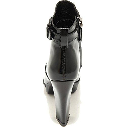 1851G tronchetto donna nero TOD'S PLAT GOMMA 95 SE TRONCH FIBBIA scarpa stivale Nero