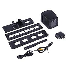 5 Mega Pixel 35 mm Pellicola negativa per scanner per diapositive Scanner USB a colori Fotocopiatrice Schermo LCD a colori da 2,4 pollici incorporato – Nero