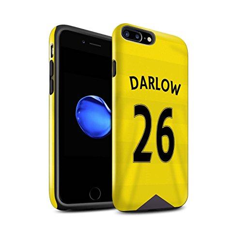 Offiziell Newcastle United FC Hülle / Glanz Harten Stoßfest Case für Apple iPhone 7 Plus / Rivière Muster / NUFC Trikot Home 15/16 Kollektion Darlow