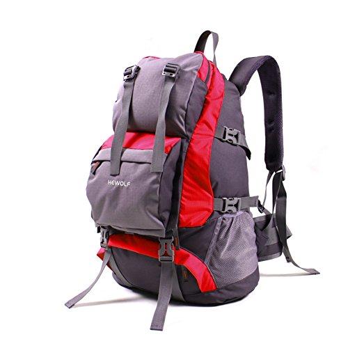 Outdoor-Rucksack/Bergsteigen Tasche/Männer und Frauen Rucksack/Reisetaschen/Wasserdichter Rucksack Wandern-rot 32L rot