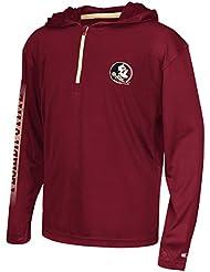 "Florida State Seminoles Youth NCAA ""Sleet"" 1/4 Zip Pullover Hooded WindShirt Chemise"