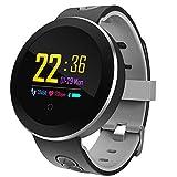 SanQing Sport Smart Watch, IP68 Impermeabile Fitness Tracker con Touch Screen Miglior pedometro per Il Polsino e cardiofrequenzimetro Monitoraggio della frequenza cardiaca,Gray