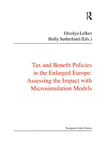 Tax and Benefit Policies in the Enlarged Europe: Assessing the Impact with Microsimulation Models (Public Policy and Social Welfare Book 35) (English Edition)