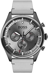 Hugo Boss Mens Quartz Watch, Chronograph Display and Leather Strap 1513710