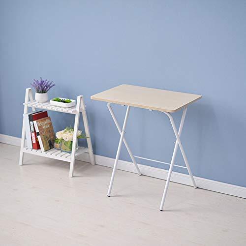 YY&L Installation Gratuite La Maison Table Pliante Bureau Portable, Bureau Amovible Enfants À La Maison Facile À Plier - Adapté Intérieur Extérieur, 40 * 60Cm,Maple