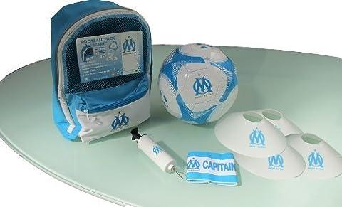 Kit d'entrainement OM - Collection officielle - Sac + ballon + pompe + plots + brassard de capitaine OLYMPIQUE DE MARSEILLE - Football Supporter - Ligue 1