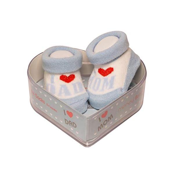 De regalo de calcetines para bebé Regalo único para baby shower o recién nacido para niños y niñas 1 par 0-3 meses 1