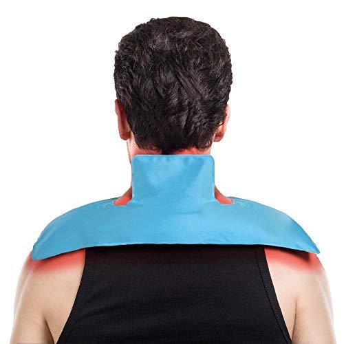 Gel Frío Compresa Bolsa de Gel Reutilizable Caliente -Paquete de hielo Gel Wrap para aplicar frío y calor, Perfecto alivio rápido del dolor para hombro,Lesiones en Rodilla, Pierna, Tobillo