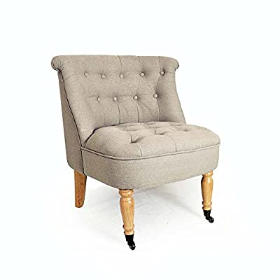 Brand New Stylish Quilted Occasional Chair in Grey
