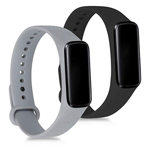 kwmobile Samsung Galaxy Fit and Silicone Strap - 2X Strap with Buckle ca. for Samsung Galaxy Fit e
