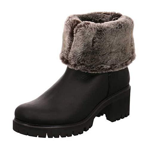 PANAMA JACK PIOLA B23 - Damen Schuhe Stiefeletten Stiefel - Nappa-Grass-Negro, Größe:39 EU