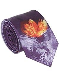 Satya Paul Men's Silk Tie (AMSIGPSNTS901_Magenta_1m 48cm)