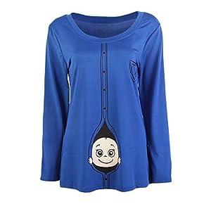 Frauen-Mutterschafts-Baby das T-Shirt späht Lustiges Schwangerschafts-T-Stück, das Mutter-Tops erwartet