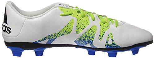 adidas X 15.4 Fxg, Chaussures de Foot Homme Blanc (Ftwr White/Semi Solar Slime/Core Black)