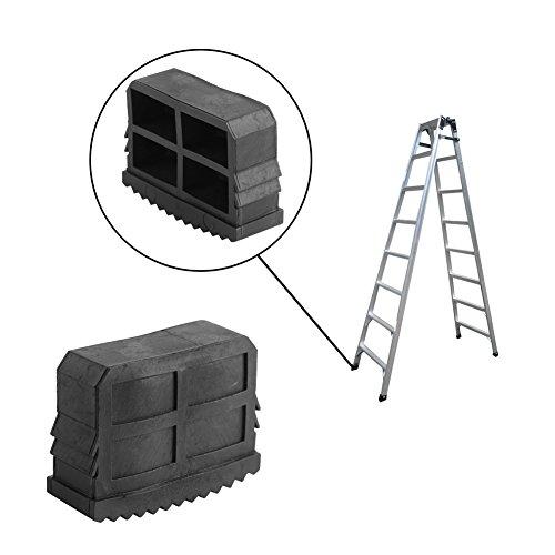 Leiter Füße, 4Gummi rutschfeste Ersatz Leiter Füße Schritt-für Verlängerung Leiter, schwarz
