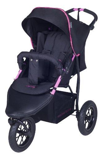 knorr-baby 883002 EVA-Rad- Joggy S schwarz-fuchsia