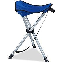 Relaxdays Dreibein-Hocker, 40 cm Sitzhöhe, Sitzhocker, faltbar, für Garten, Camping, verschiedene Farben