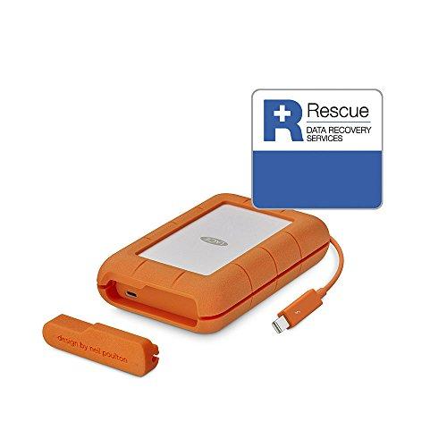 LaCie Rugged 5 TB externe tragbare Festplatte (USB 3.0, USB 3.1, USB-C,...