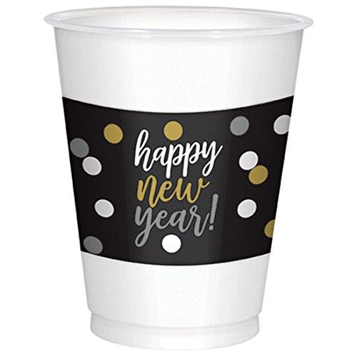 r Dekoration Große Trinkbecher Happy New Year Aufdruck, 25 Stück, Mehrfarbig (Halloween-frühstück Essen)