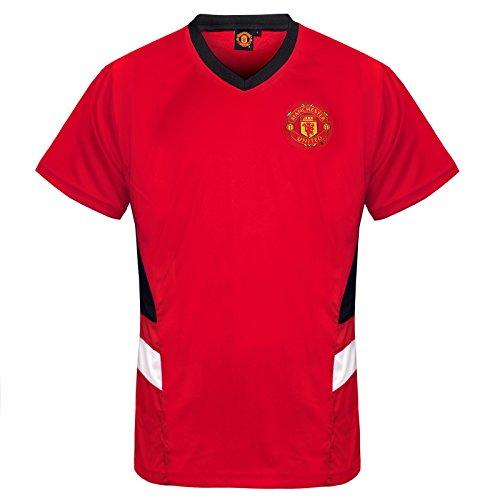Manchester United FC - Herren Trainingstrikot aus Polyester - Offizielles Merchandise - Geschenk für Fußballfans - Rot V-Ausschnitt - M -