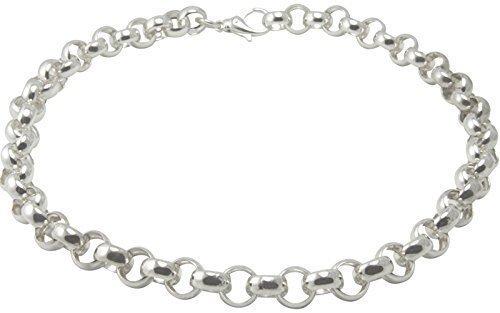 Silber Kette Erbsmuster - Goldschmiede Qualität - 12 mmStärke (Sterling Silber 925) Erbskette, Silber Collier