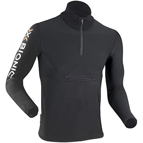 X-Bionic Ski Cf Man Beaver Jacket Zip Up Secondo Strato Tecnico Sci, Uomo, Nero (Black), M