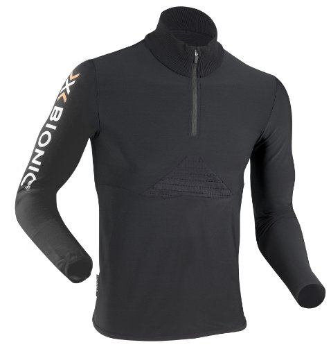X-Bionic Ski Cf Man Beaver Jacket Zip Up Secondo Strato Tecnico Sci, Uomo, Nero (Black), S
