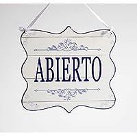 Abierto/Cerrado - letrero de madera colgante de la puerta de la tienda de doble