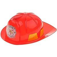 Homyl Cappello Pompiere Vigile del Fuoco Rosso Nero per Bambini  Circonferenza Interna  Circa 57 e0270ddd7f53