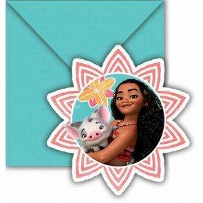Preisvergleich Produktbild Vaiana - Moana Einladungskarten & Umschläge