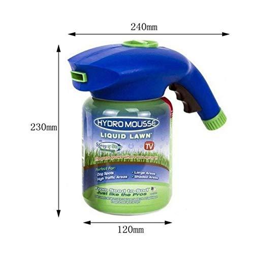 Shoppy Star - Sistema de césped líquido de Espuma Hydro Profesional para  Uso doméstico y en Spray de Semillas para Cuidado de Semillas,