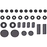 WP Kids Tech Magnets for DIY Science and Fun (Black) -Pack of 30 PSIRS =60PCS