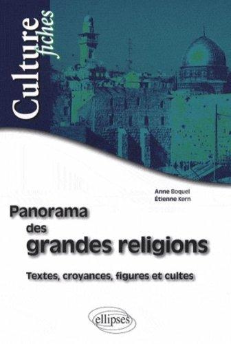 Panorama des grandes religions : Textes, croyances, figures et cultes par Anne Boquel