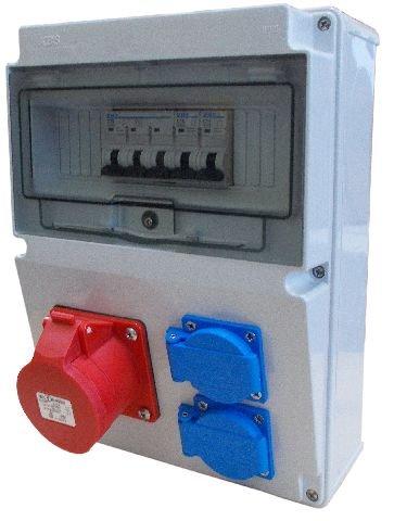 Wandverteiler CEE 16A 230V Stromverteiler Baustromverteiler Verteiler Feuchtraumverteiler 2-5