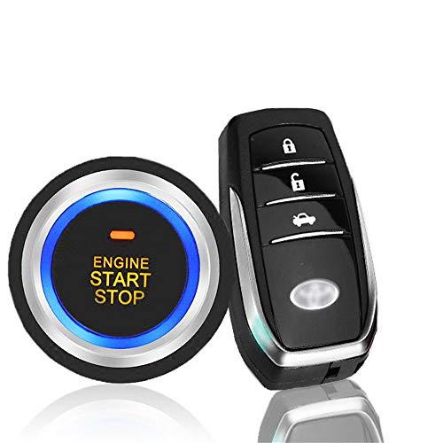 GZLMMY PKE Auto SUV Keyless Entry Motor Start Stop Push Button Remote Starter Auto Alarmanlage Automatisches Sperren oder Entriegeln der Tür und des Kofferraums innerhalb von 2 m