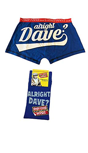 Only Fools and Horses Official Alright Dave Boxers and Sock Gift Set - 3 Sizes