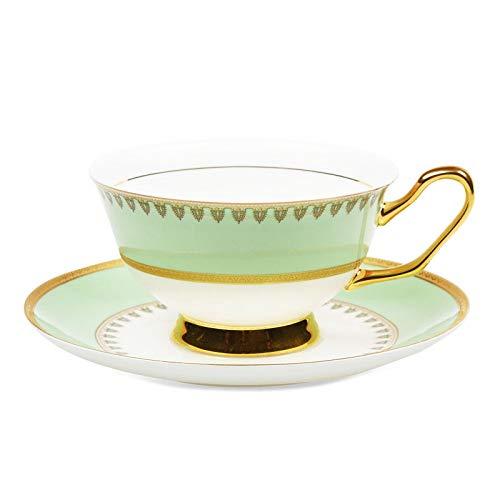 JGDGJKFB Kaffeetasse European Style Hohe Qualität Bone China Teetasse Keramik Tee Tassen Goldene...