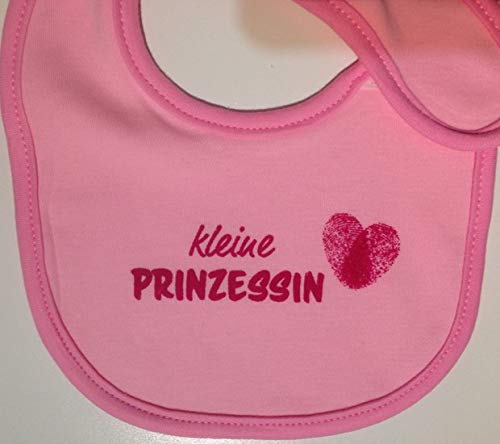 """Kleine Windeltorte / Windelwagen rosa für Mädchen – mit Lätzchen """"kleine Prinzessin"""" – das perfekte Geschenk zur Geburt oder Taufe + gratis Klappkarte - 5"""