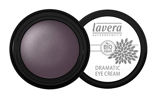 lavera Lidschatten Creme Dramatic Eye Cream ∙ Farbe Soul Plum lila ∙ zart & schimmernd ∙ Natural & innovative Make up ✔ Bio Pflanzenwirkstoffe ✔ Naturkosmetik ✔ Augen Kosmetik 3er Pack (3 x 4 g)