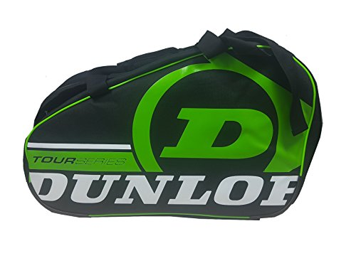 Dunlop TOUR COMPETITION - Paletero de pádel, 2017, color negro/verde