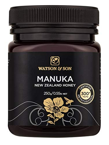 Watson & Son Manuka-Honig MGO 300+, 1er Pack (1 x 250 g) - Manukahonig Health Nz