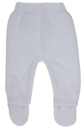 MLT Pantalon de Naissance bébé (Bleu Layette), tricoté en Franc