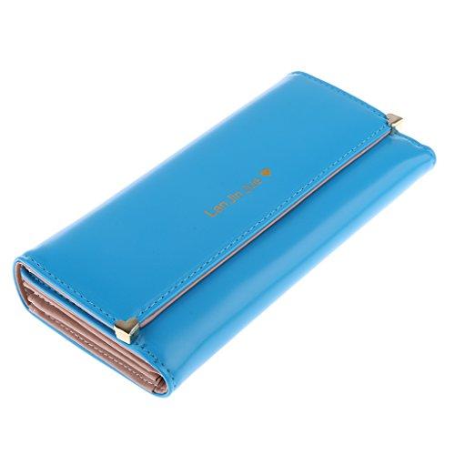 MagiDeal Borsa Della BustaCarta Del Raccoglitore Pochette Clutch per Donna Signore - Azzurro Azzurro